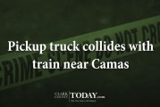 Pickup truck collides with train near Camas