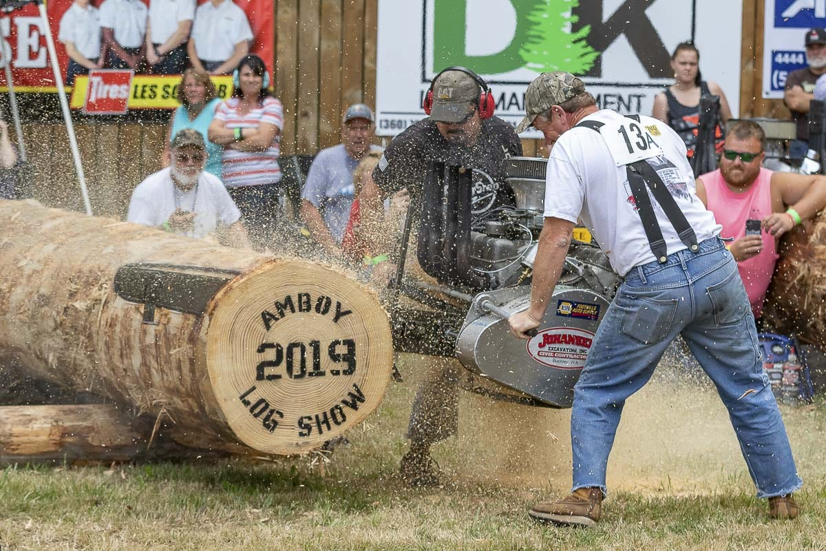 The Amboy Territorial Days Log Show featured 16 different competition events, from chainsaw races to pole climbing. Photo by Mike Schultz
