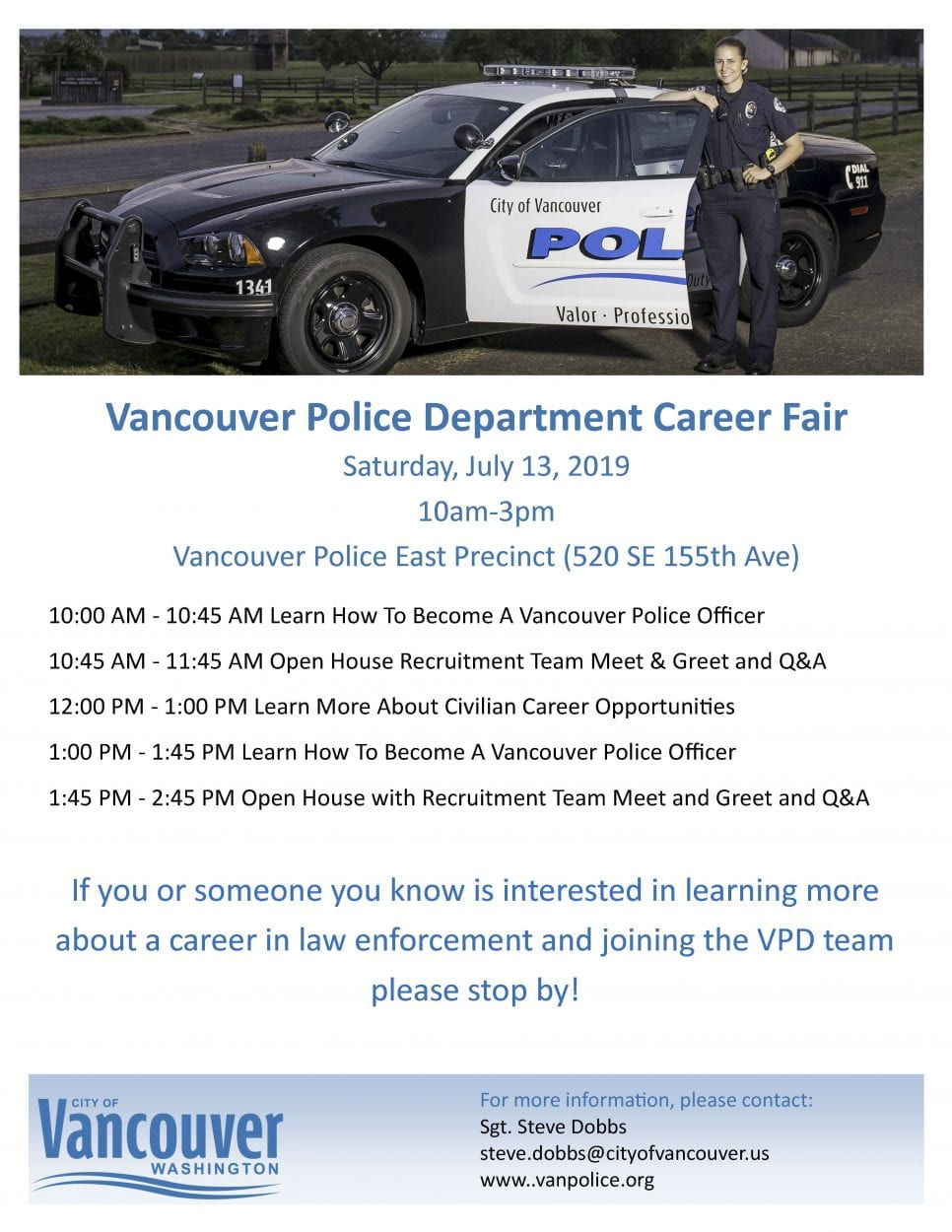 Vancouver Police Department hosting career fair