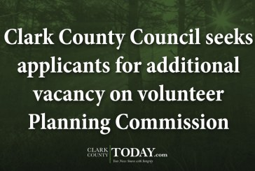 Clark County Council seeks applicants for additional vacancy on volunteer Planning Commission