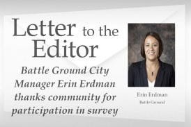 Letter: Battle Ground City Manager Erin Erdman thanks community for participation in survey