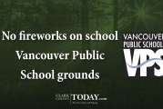 No fireworks on school Vancouver Public School grounds