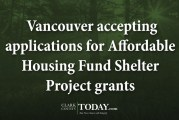 Vancouver accepting applications for Affordable Housing Fund Shelter Project grants