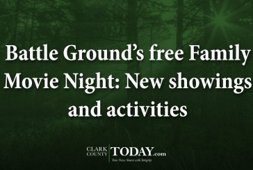 Battle Ground's free Family Movie Night: New showings and activities