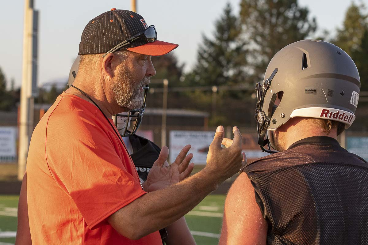 Battle Ground coach Mike Kesler said he wants to teach and have fun with the underclassmen on his 2019 squad, ensure they have a great experience and grow the program through the years. Photo by Mike Schultz