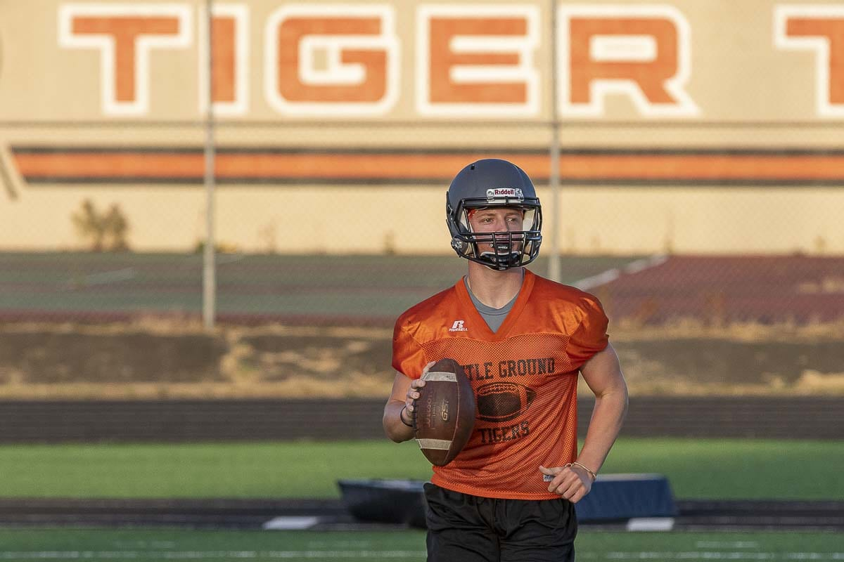 According to his coach, Battle Ground quarterback Reid Schneider is a real student of the game. Photo by Mike Schultz