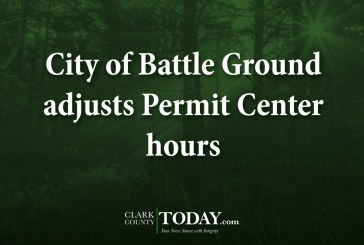 City of Battle Ground adjusts Permit Center hours
