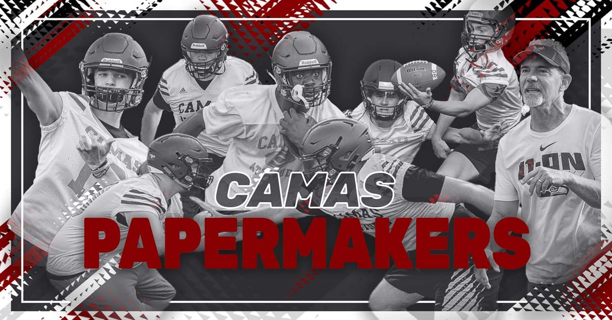 Camas Papermakers, Camas Wa, High School Football Jacques Badalato-Birdsell, JakeBlair, Caadyn Stephen, John Eagle, Clark County Wa