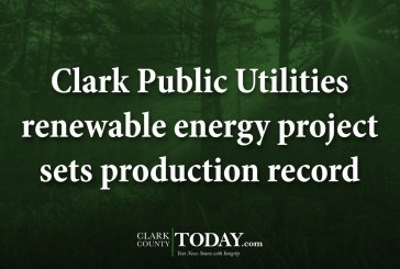 Clark Public Utilities renewable energy project sets production record