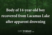 Body of 14-year-old boy recovered from Lacamas Lake after apparent drowning