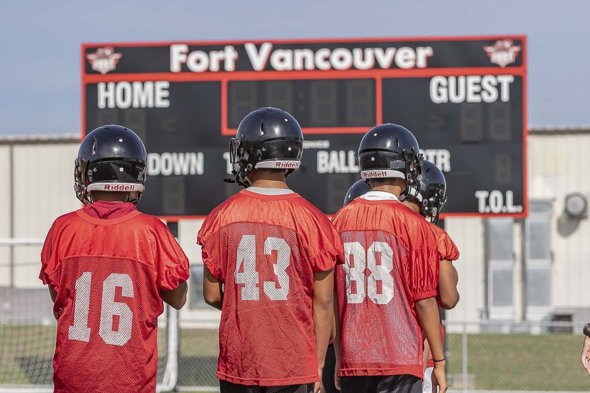 Fort Vancouver will play a true home game for the first time in decades. Most of the team's home games will still be at Kiggins Bowl, but in Week 9, the Trappers will play on campus. Photo by Mike Schultz