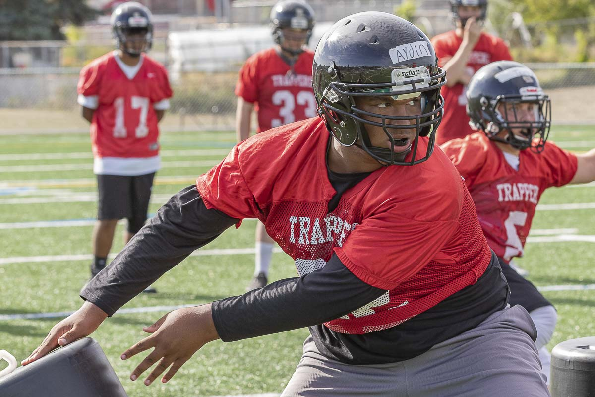 Aydin Scharbrough is one of two offseason standouts, according to Fort Vancouver coach Neil Lomax. Scharbrough dedicated himself to making himself a better athlete. Photo by Mike Schultz