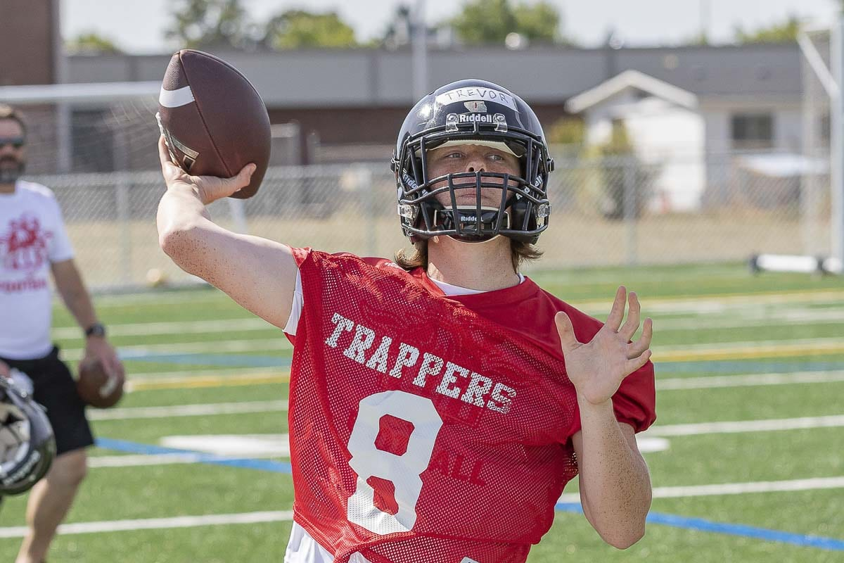 Known around campus as more of a baseball player, Trevor Narvasa is out for football this year and will be Fort Vancouver's quarterback. Photo by Mike Schultz