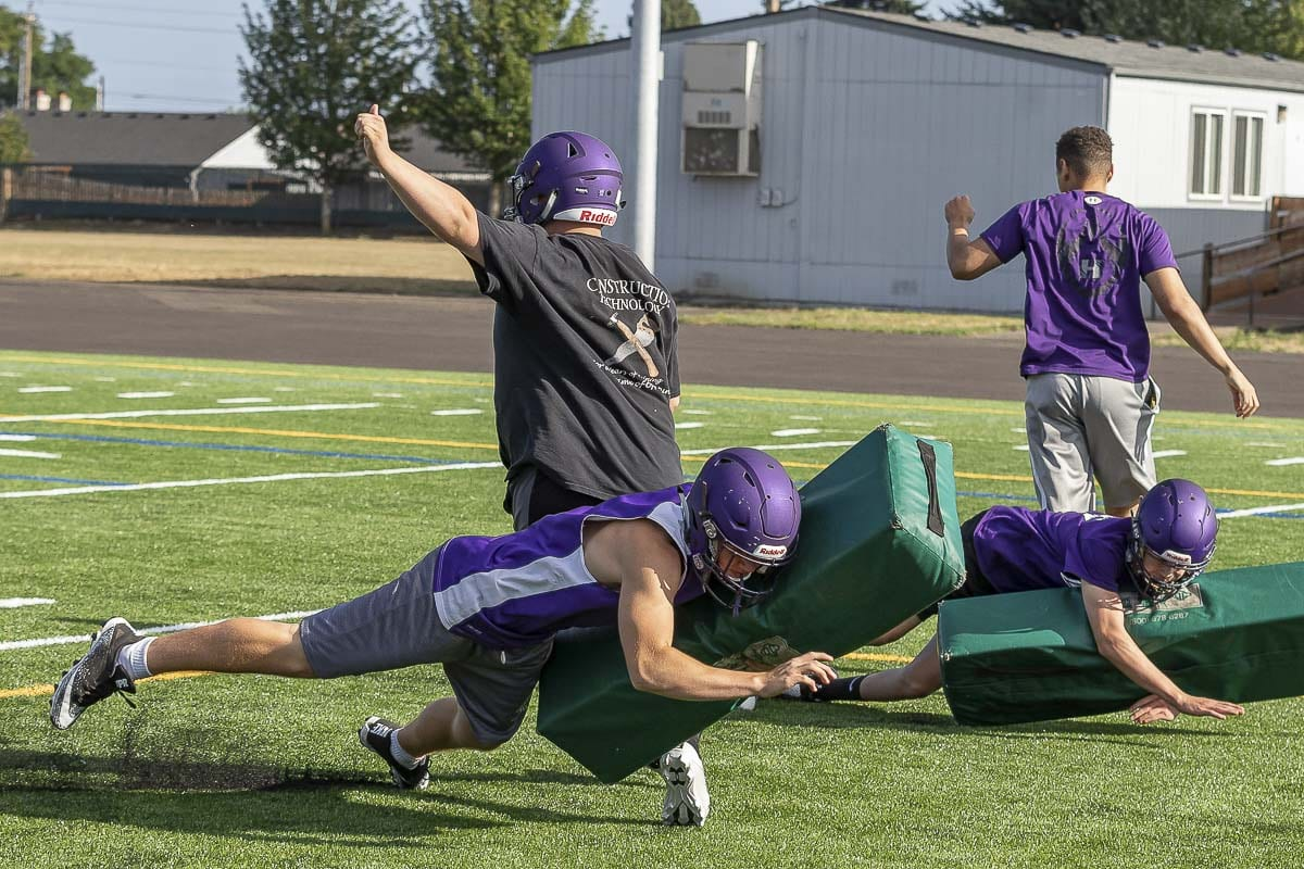 It's another fresh start for the Heritage Timberwolves in 2019. After wins in their first two games last season, the Timberwolves lost their last seven games and will head into this season with a new head coach and an optimistic outlook. Photo by Mike Schultz