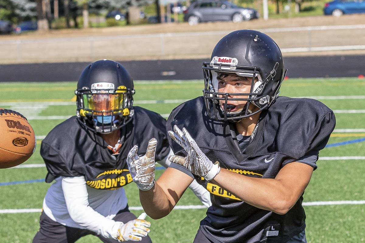 The Hudson's Bay coaching staff expects big things from Mateo Varona. Only a freshman, he might crack the starting lineup at running back. Photo by Mike Schultz