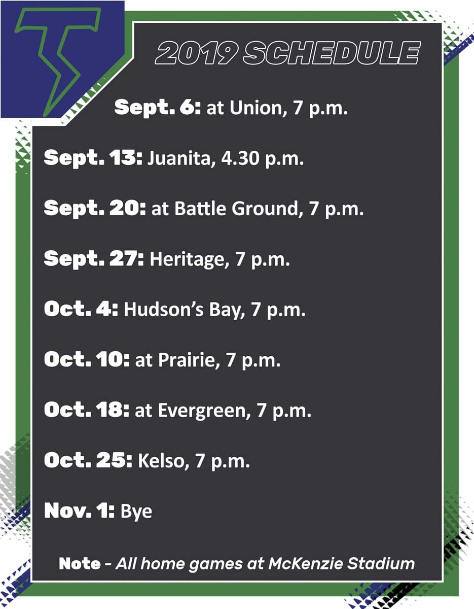 Mountain View Thunder Football Schedule 2019