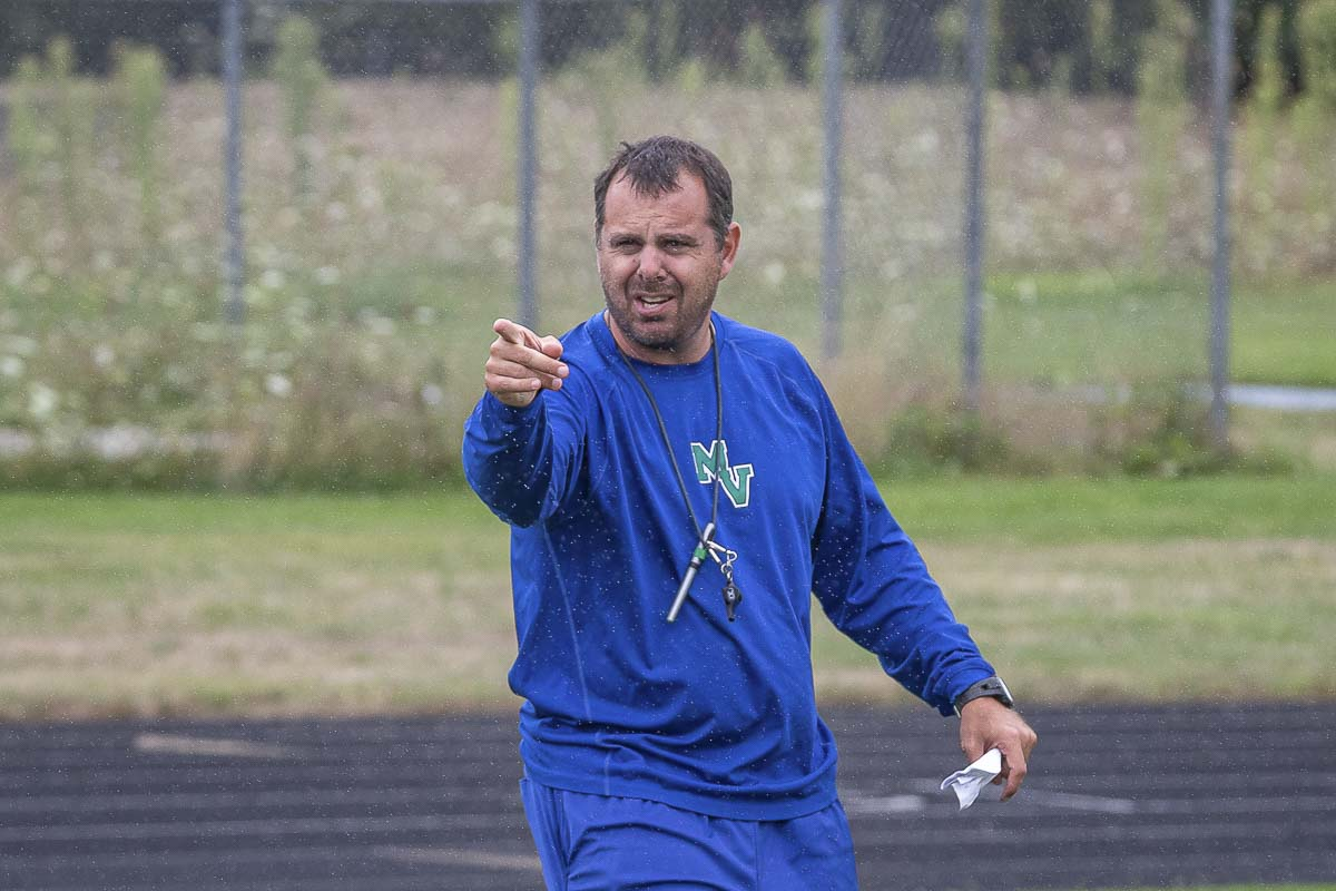 Mountain View coach Adam Mathieson is always pointing to the future. Yes, the recent success of the program is something to be proud of, but now it is only time to think about this upcoming season. Photo by Mike Schultz