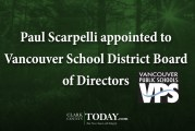 Paul Scarpelli appointed to Vancouver School District Board of Directors