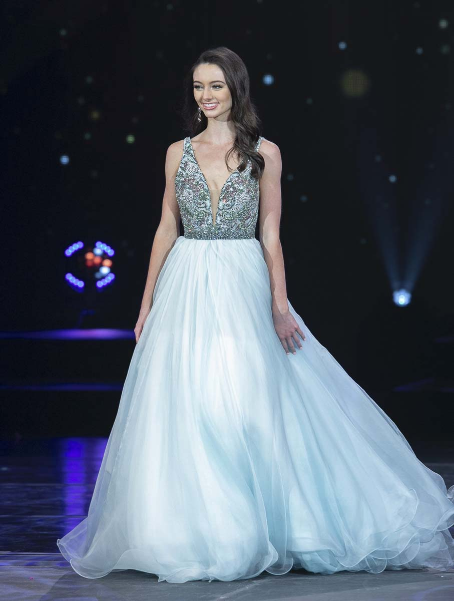 Vancouver resident Payton May is shown here during the evening gown portion of the Miss America's Outstanding Teen competition held in July in Orlando, Florida. Photo courtesy of Miss America's Outstanding Teen