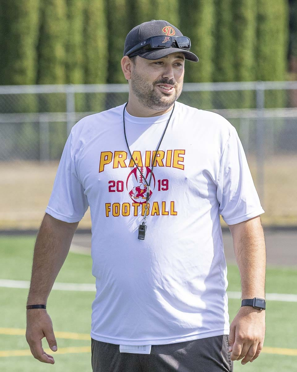Mike Peck is entering his second season as the head coach at Prairie. Photo by Mike Schultz