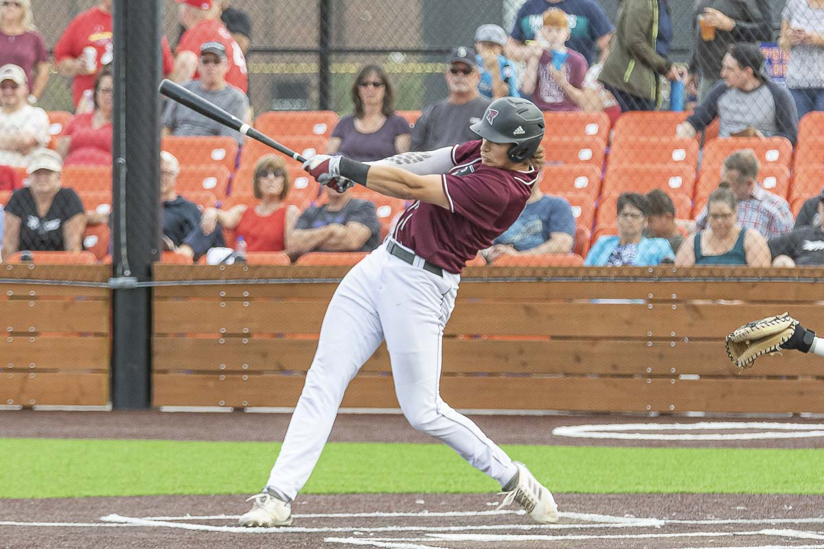 Michael Hicks was one of the league leaders in RBIs, but he says he never looks at his own stats. Photo by Mike Schultz