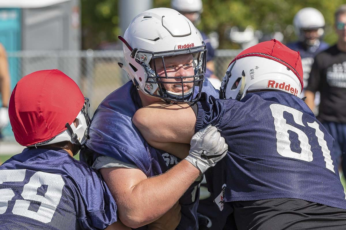 Lineman Jack Nitschke's got game to go with his football name. Photo by Mike Schultz