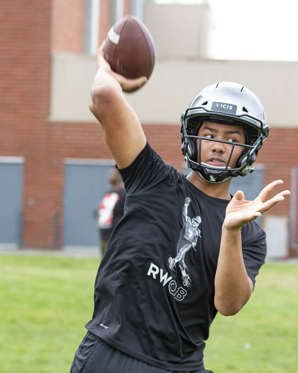 Caleb Jordan moved to Vancouver from Oregon this summer and he is on target to be the Titans starting quarterback this season. Photo by Mike Schultz