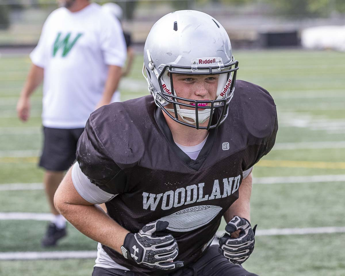 Jason Bowman is not only an all-league returning lineman, he is also a leader of the Woodland football team and in the community. Photo by Mike Schultz