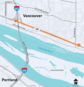WSDOT pilot project: Zipper merge for improved travel on eastbound SR 14 from I-205