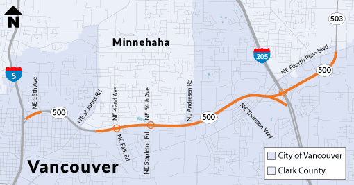 Weekend-long closure of eastbound SR 500 for paving scheduled Aug. 16-19