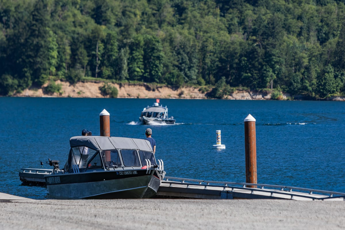 Low water conditions limit boat access on Yale Reservoir
