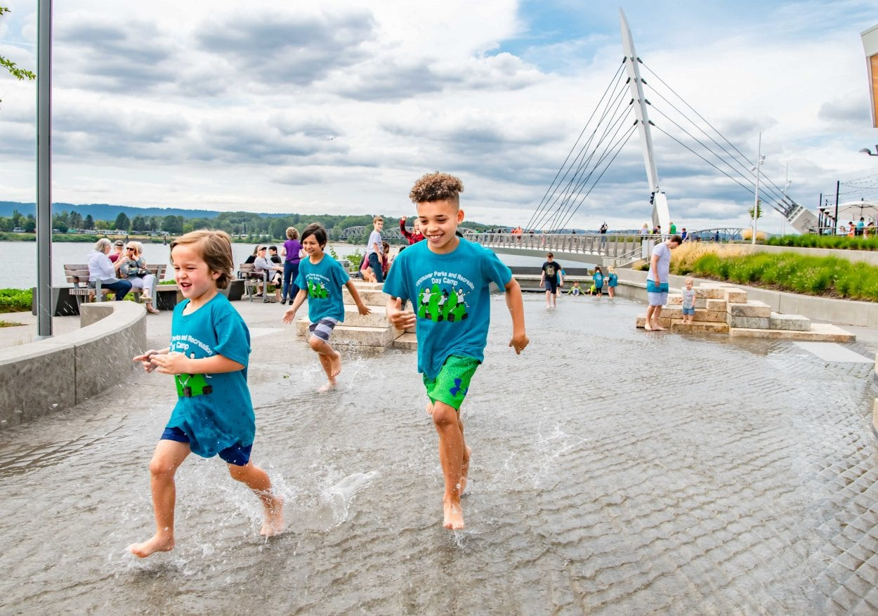 Columbia River water feature at Vancouver Waterfront Park opens