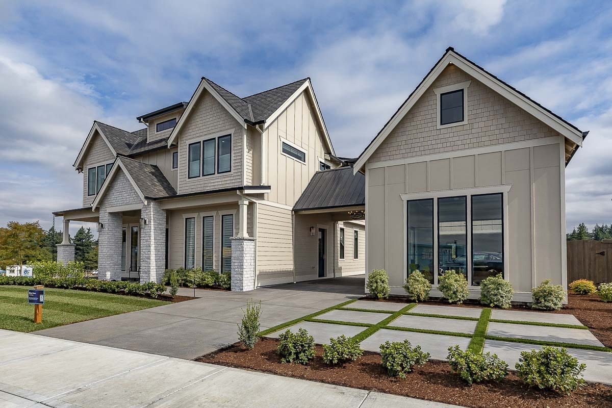 The exterior of The Hamlin, offered by Affinity Homes at the 2019 Parade of Homes, is shown here. Photo by Mike Schultz