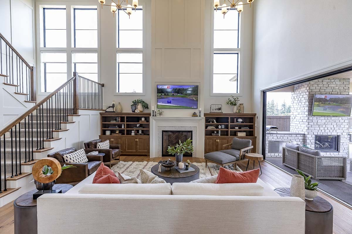 Some of the vaulted living space featured in Affinity Homes' The Hamlin is illustrated here. Photo by Mike Schultz