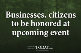 Businesses, citizens to be honored at upcoming event