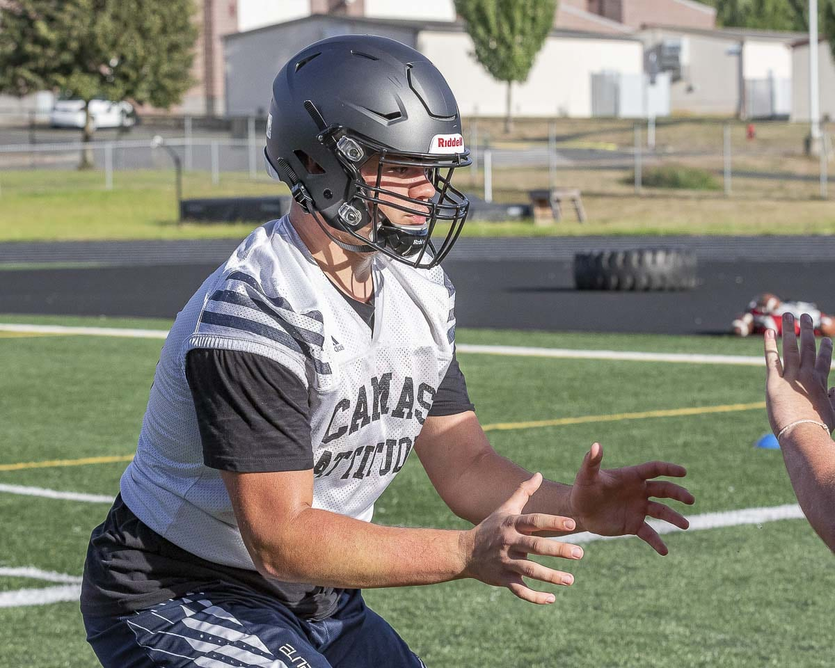 Caadyn Stephen moved to Camas from Alaska prior to his junior season. He goes into his senior season as one of the top recruits in the West. Photo by Mike Schultz