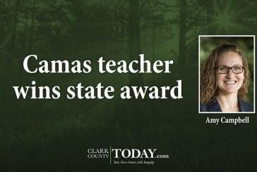 Camas teacher wins state award