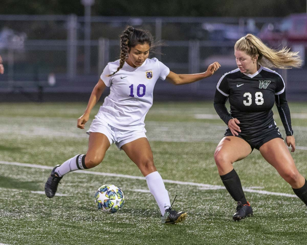 Yaneisy Rodriguez earned first-team, all-league status last year and is back, helping Columbia River into first place early in the season. Photo by Mike Schultz