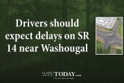 Drivers should expect delays on SR 14 near Washougal