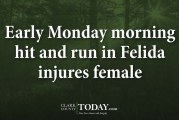 Early Monday morning hit and run in Felida injures female