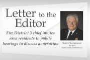 Letter: Fire District 3 chief invites area residents to public hearings to discuss annexation