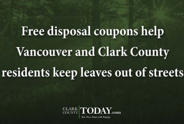 Free disposal coupons help Vancouver and Clark County residents keep leaves out of streets