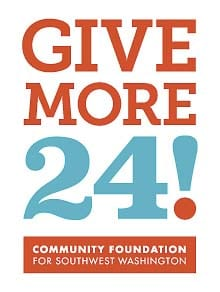 Give More 24!, southwest Washington's largest day of online giving, is scheduled for Thursday. The event, which is organized by the Community Foundation for Southwest Washington, runs from midnight to midnight and encourages people from across the region to donate to more than 170 local nonprofits.