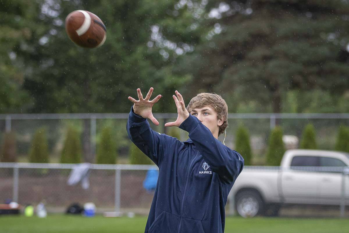 Sawyer Racanelli of Hockinson will be headed to the University of Washington as a receiver. Photo by Mike Schultz