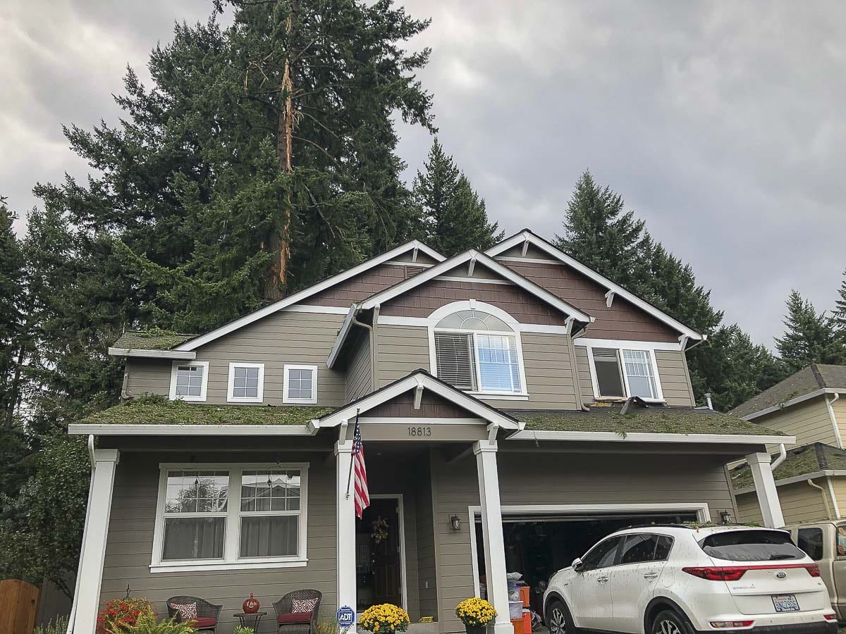 Lightning struck this east Vancouver home, owned by Steve and Erica Pyne. The strike, which took place Saturday afternoon, caused considerable damage. Photo by Andi Schwartz
