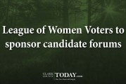 League of Women Voters to sponsor candidate forums