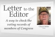 Letter: A way to check the voting records of members of Congress