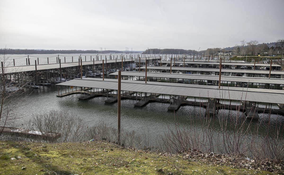 The Port of Camas-Washougal's marina is one of the three areas the port is expanding, along with the airport and waterfront area. Photo by Jacob Granneman