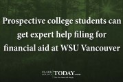 WSU Vancouver financial aid help