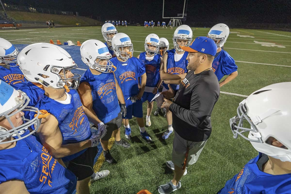 The Ridgefield Spudders got their first win under new coach Scott Rice. Photo by Mike Schultz